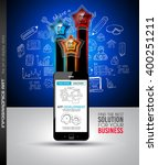 infographics complex layout... | Shutterstock .eps vector #400251211