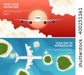 travel tourism vector... | Shutterstock .eps vector #400251361