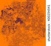 orange paint splashes... | Shutterstock . vector #400254541