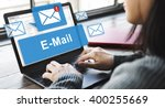 Stock photo email inbox electronic communication graphics concept 400255669