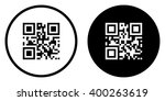 Qr Code Icon In Circle . Vecto...