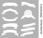 white ribbons set isolated on... | Shutterstock .eps vector #400264411