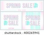 spring sale banner. modern style | Shutterstock .eps vector #400265941