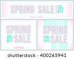 modern banners for spring sale... | Shutterstock .eps vector #400265941