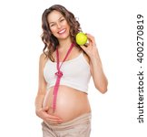 Pregnant Woman Measuring Her...