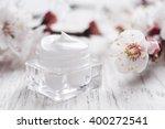 natural facial cream with... | Shutterstock . vector #400272541