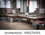 cofe table and sofa modern... | Shutterstock . vector #400276351