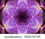Seamless Purple Fractal Mandal...
