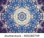 Blue Fractal Mandala  Digital...