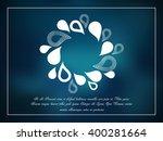 watter whirl on blue background | Shutterstock .eps vector #400281664
