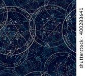 sacred geometry cabala symbol ... | Shutterstock . vector #400283641