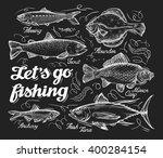 fishing. hand drawn sketch fish ...   Shutterstock .eps vector #400284154