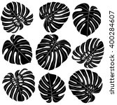 collection of black and white... | Shutterstock .eps vector #400284607