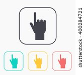 pointing hand vector color icon ... | Shutterstock .eps vector #400284721