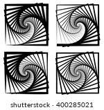 various abstract spiral  vortex ... | Shutterstock .eps vector #400285021
