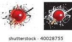 grunge style illustration on a... | Shutterstock .eps vector #40028755