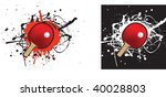 grunge style illustration on a... | Shutterstock . vector #40028803