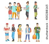 student casual urban young... | Shutterstock .eps vector #400288165
