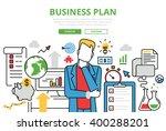 business plan concept flat line ... | Shutterstock .eps vector #400288201
