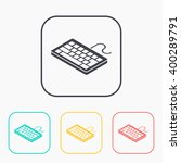 pc keyboard isometric 3d color...   Shutterstock .eps vector #400289791