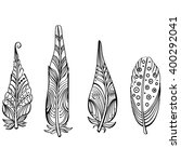 tribal ethnic feathers   Shutterstock .eps vector #400292041