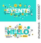 set of modern vector... | Shutterstock .eps vector #400300087