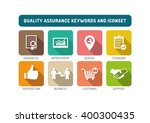quality assurance flat icon | Shutterstock .eps vector #400300435