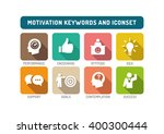 motivation flat icon set | Shutterstock .eps vector #400300444