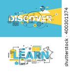 set of modern vector... | Shutterstock .eps vector #400301374