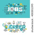 set of modern vector... | Shutterstock .eps vector #400301395