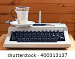 writer workspace   typewriter... | Shutterstock . vector #400313137