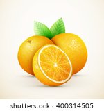 fresh oranges fruits with green ...   Shutterstock .eps vector #400314505
