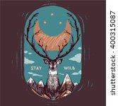 outdoors tee graphic | Shutterstock .eps vector #400315087