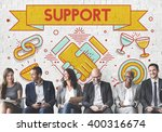 support helping advice... | Shutterstock . vector #400316674