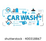 Car Wash Background Signs Vector