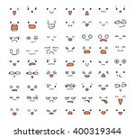 big set of 63 emotions isolated ... | Shutterstock .eps vector #400319344