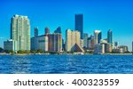 miami florida city skyline... | Shutterstock . vector #400323559