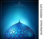 ramadan kareem background glow... | Shutterstock .eps vector #400331191