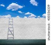 Old White Brick Wall Backgroun...