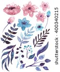 watercolor floral set | Shutterstock . vector #400340215