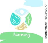 logo harmony  four nature... | Shutterstock .eps vector #400349077