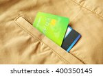 Credit Cards In Trousers Pocket