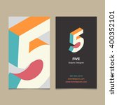 """logo number """"5""""  with business... 