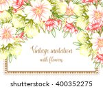 invitation with floral... | Shutterstock . vector #400352275