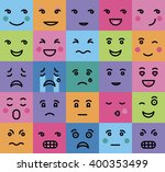 set of persons  emotion on a... | Shutterstock .eps vector #400353499