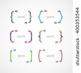 color brackets with quotes   Shutterstock .eps vector #400353544