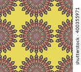 round mandala seamless pattern. ... | Shutterstock .eps vector #400355971