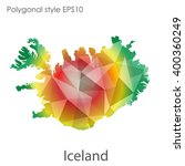 iceland map in geometric... | Shutterstock .eps vector #400360249