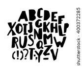 paper cut alphabet. black ... | Shutterstock .eps vector #400372285