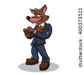 wolf business man  | Shutterstock .eps vector #400373521